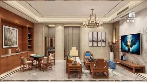 【翌天设计】融域   300㎡新中式别墅